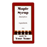 Maple Syrup Jar Label 2 Shipping Label