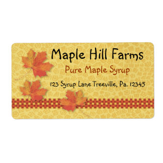 Maple Syrup Label Product Label