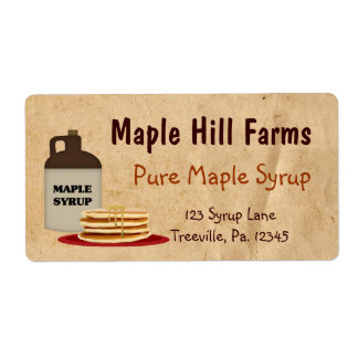 Maple Syrup Label Shipping Label