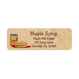 Maple Syrup Label Small Label