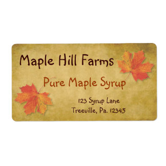 Maple Syrup Product Label Shipping Label