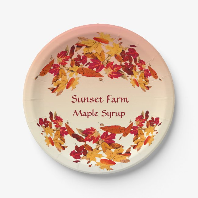 Maple Syrup Promotional Paper Plates