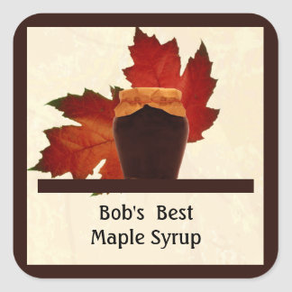 """Maple Syrup Square"""" Sticker"""