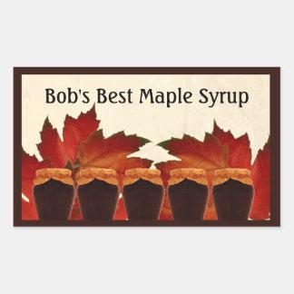 Maple Syrup Sticker Label
