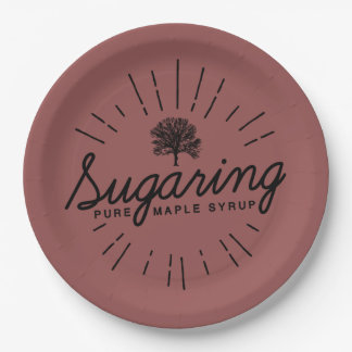 Maple Syrup Sugaring Paper Plate