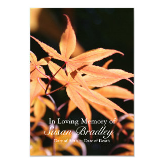 Maple Tree 2 Celebration of Life Memorial service 3.5x5 Paper Invitation Card