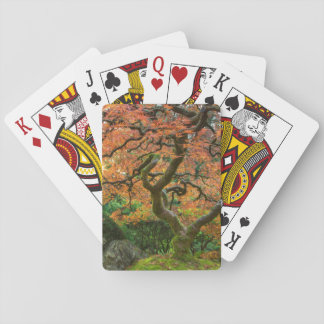 Maple Tree At The Japanese Gardens In Autumn Playing Cards