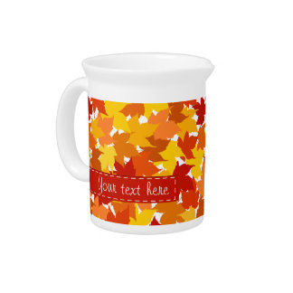 Maple tree autumn leaves pitcher