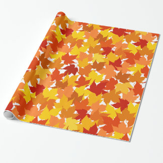 Maple tree autumn leaves wrapping paper