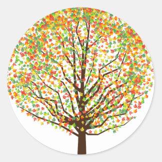 Maple Tree Classic Round Sticker