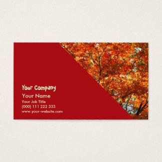 Maple tree foliage business card