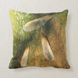 Maple Tree Helicopters On Cedar Pillow