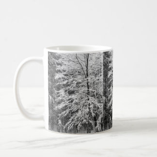 Maple Tree Outlined In Snow Coffee Mug