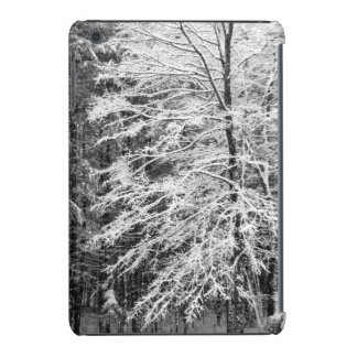 Maple Tree Outlined In Snow iPad Mini Covers