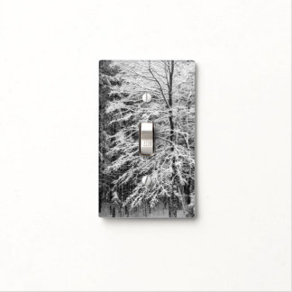Maple Tree Outlined In Snow Light Switch Cover