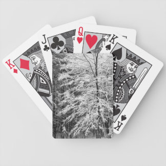 Maple Tree Outlined In Snow Playing Cards