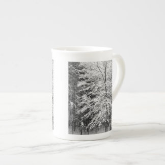 Maple Tree Outlined In Snow Tea Cup