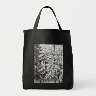Maple Tree Outlined In Snow Tote Bag