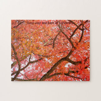 Maple Tree Puzzle Personalized Autumn Leaf Puzzle