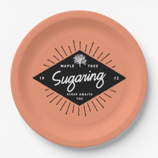 Maple Tree Sugaring Paper Plate