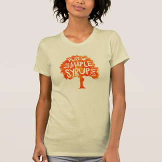 Maple Tree Syrup Love Hip Lettering T-shirt
