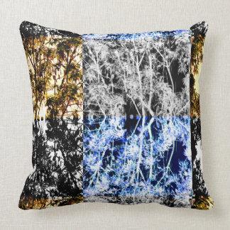 Maple Trees Four Ways Chic Organic Design Throw Pillow