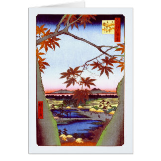 Maple Trees Tekona Hiroshige Vintage Japanese Card