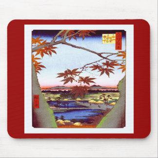 Maple Trees Tekona Hiroshige Vintage Japanese Mouse Pad