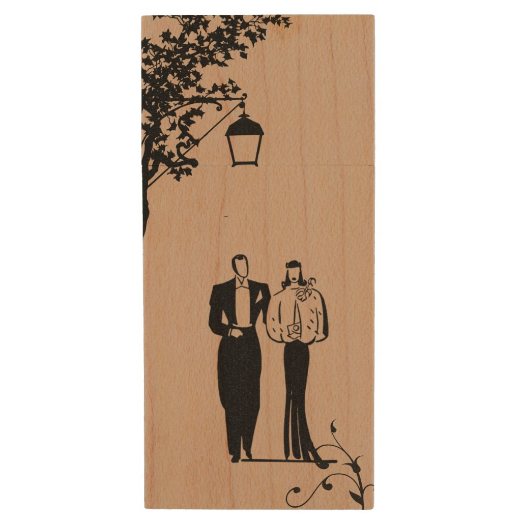 Maple USB Wedding Flash Drive