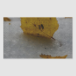 Maple Weaved Rectangular Sticker