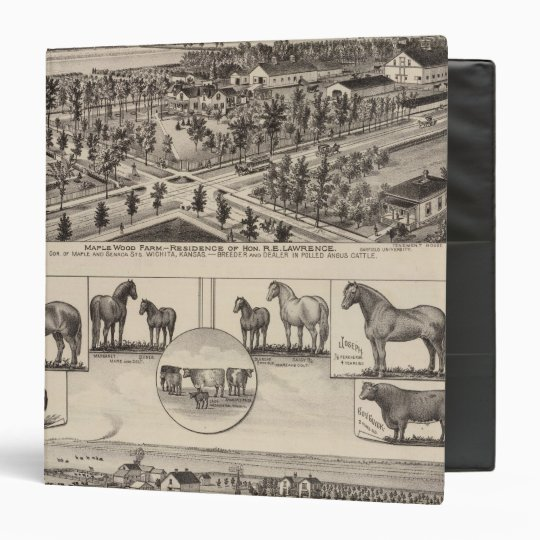 Maple Wood Farm, Kansas 3 Ring Binder