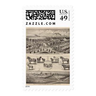 Maple Wood Farm, Kansas Postage Stamp