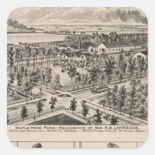 Maple Wood Farm, Kansas Square Sticker