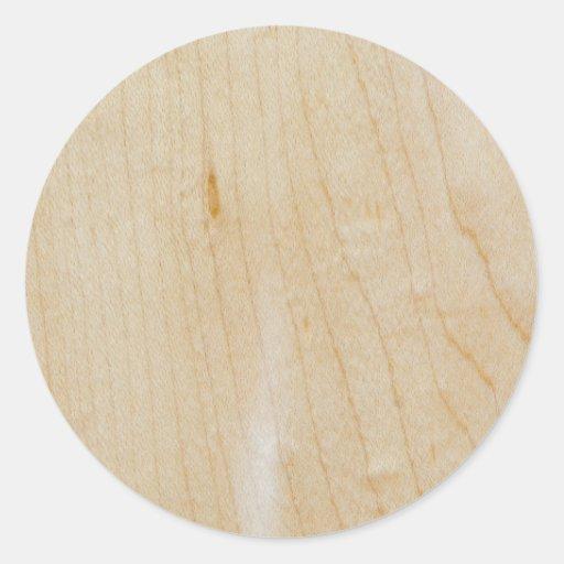 Maple wood round stickers