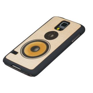 "Maple Wood ""Speaker Effect"" Galaxy Phone Case"