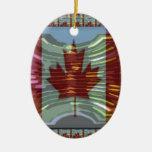 MapleLeaf: Representación de valores canadienses Ornamentos De Navidad