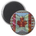 MapleLeaf: Representación de valores canadienses o Imán De Frigorifico