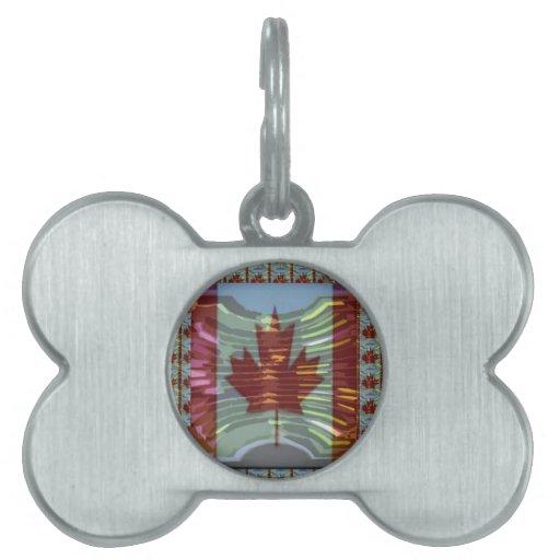MapleLeaf: Representación de valores canadienses o Placas De Nombre De Mascota