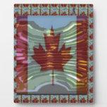 MapleLeaf: Representación de valores canadienses o Placas De Plastico