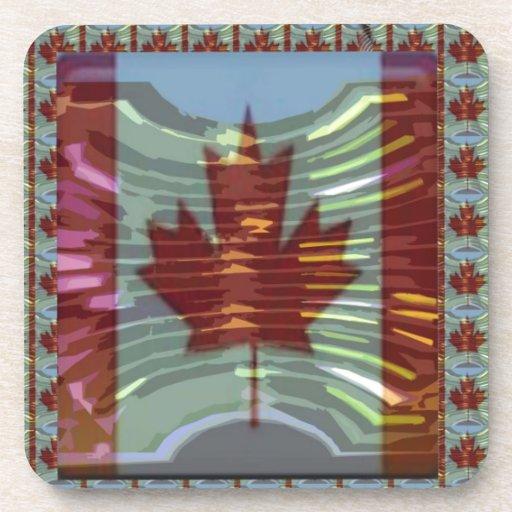 MapleLeaf: Representación de valores canadienses o Posavaso