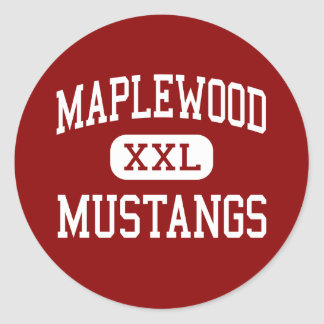 Maplewood - Mustangs - Middle - Greeley Colorado Classic Round Sticker