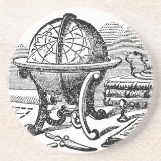 Mapmaker's Desk - Globes Sandstone Coaster