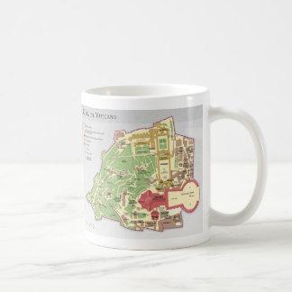 Mappa della Città del Vaticano diagramma Vatican Coffee Mug