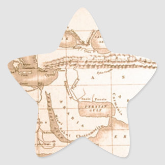 Mappa di Eratostene (old world map) Sticker