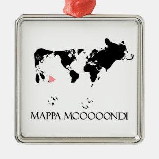 Mappa Mooooondi Metal Ornament