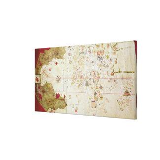 Mappa Mundi, 1502 Canvas Print