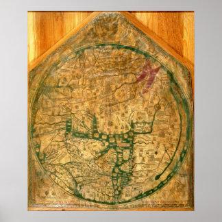 Mappa Mundi, c.1290 Posters