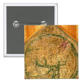 Mappa Mundi, c.1290 Pin Cuadrada 5 Cm