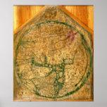 Mappa Mundi, c.1290 Print