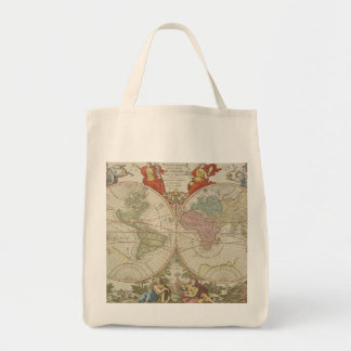Mappe Monde ou Description du Globe Terrestre & Aq Tote Bag